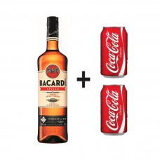 Ром Bacardi Spiced 700ml + 2бр. Coca-Cola кен 0.330ml