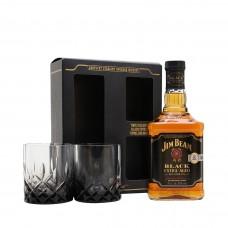 Уиски Jim Beam Black 6 Year 700ml + 2чаши