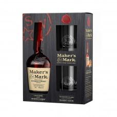 Уиски Maker's Mark 700ml + 2чаши