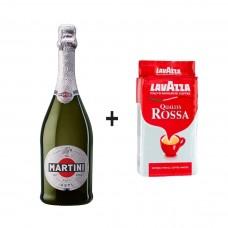 Шампанско Martini Asti 700ml + Lavazza Qualità Rossa 250g